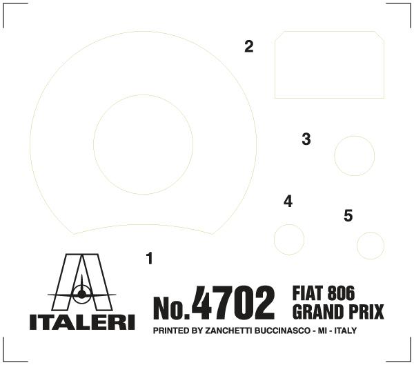 FIAT 806 GRAND PRIX Italeri 4702
