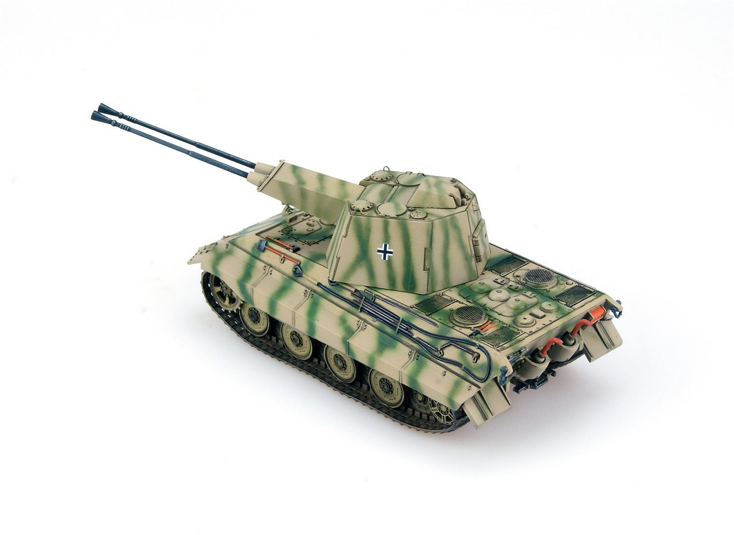 Germany WWII E-75 Flakpanzer with FLAK 55 Model Collect -UA72019
