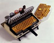 gaufrier clavier d'ordinateur électroménager insolite