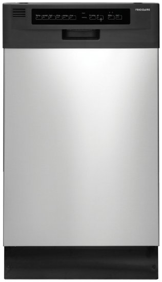 "Frigidaire 18"" Built-In Dishwasher with Stainless Steel Interior and Delay Start"