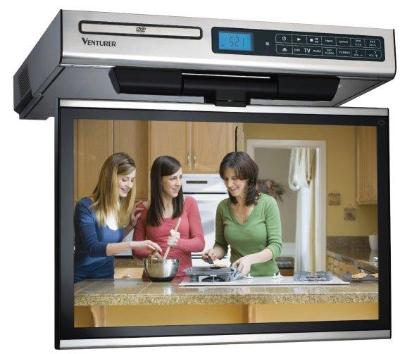 Venturer KLV3915 15.4-Inch Undercabinet Kitchen LCD TV_DVD Combo