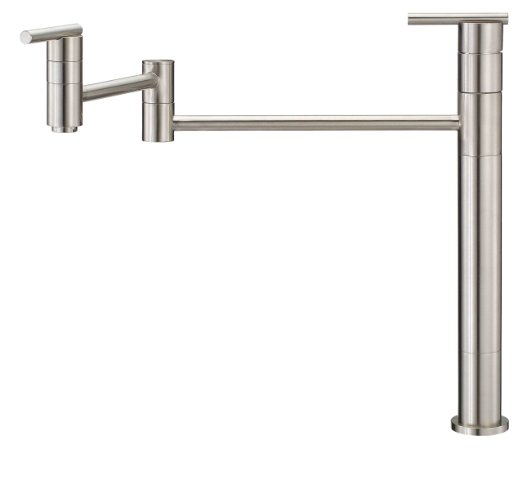 Danze D206558SS Parma Single Handle Deck Mount Pot Filler, Stainless Steel