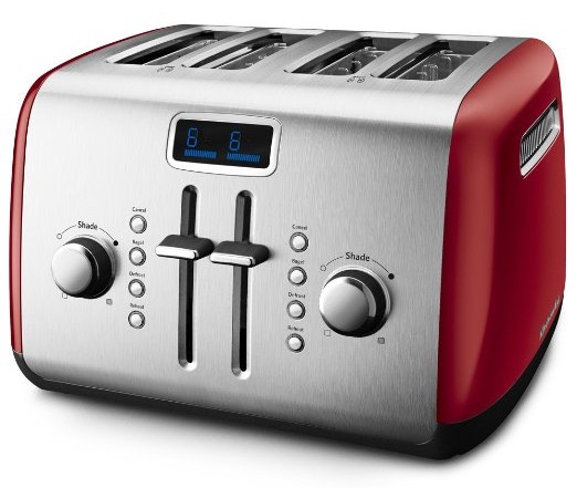 KitchenAid KMT422ER 4-Slice Toaster with Manual High-Lift Lever and Digital Display