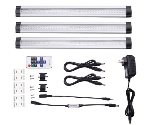 LE® Dimmable Under Cabinet Lighting, 3 Panel Deluxe Kit