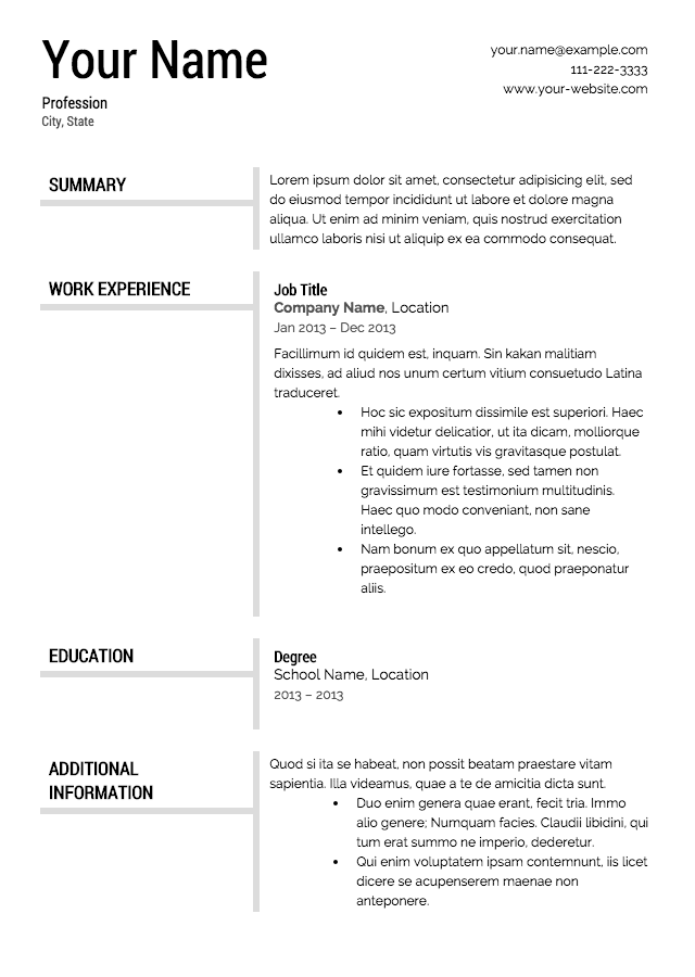 resumes template free - April.onthemarch.co