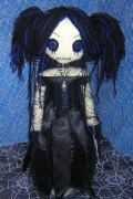 Gothic Amy Lee Rag Doll by Zosomoto (www.tatteredrags.net)