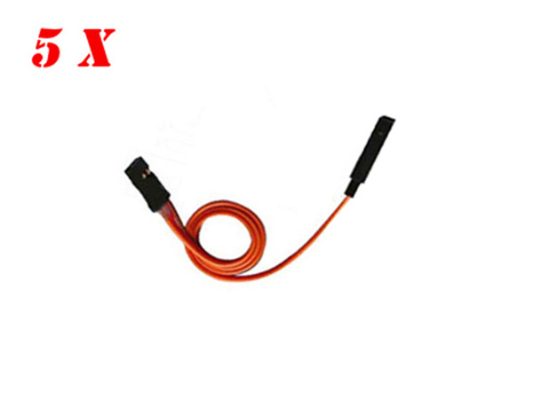 5 x RC Plane use 26AWG 45cm JR Servo Lead Extension Lead Wire