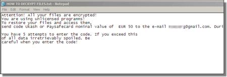 Encryptor Ransomware