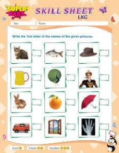 Lkg english worksheet also worksheets rh superbabyonline