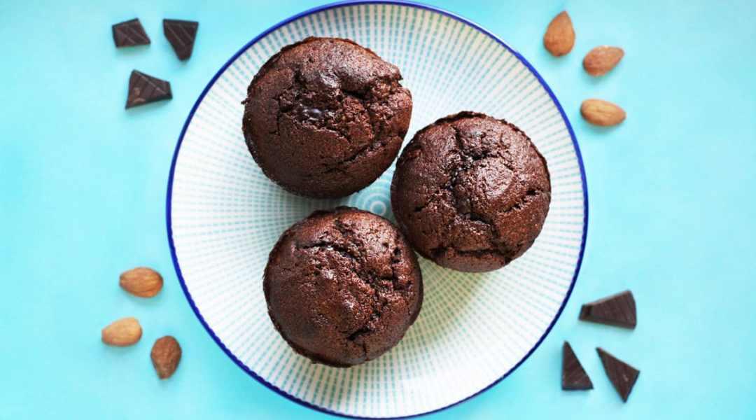 Muffins chocolat amandes (sans gluten, sans laitages)