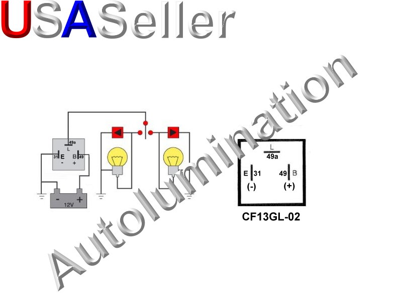3 Pin Blade CF13GL-02 Adjustable Electronic Flasher Relay