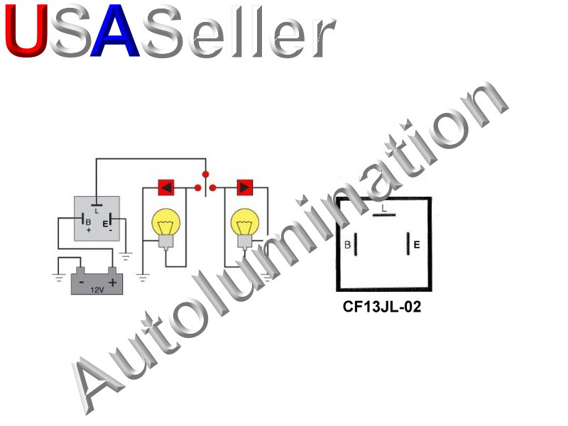 3 Pin Blade CF13JL-02 Adjustable Electronic Flasher Relay