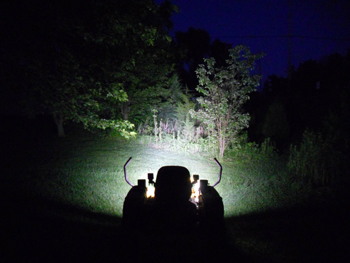 Led Light Bar Lawn Mower