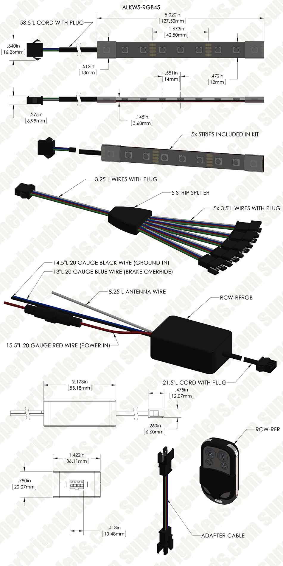 wiring diagram for motorcycle led light strip