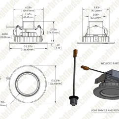 Recessed Lighting Parts Diagram Calibre Thermo Fan Wiring Led Kit For 4 Cans Retrofit Downlight W Dl4dg Nw10w
