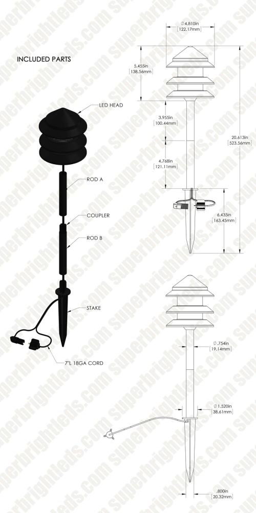 small resolution of led landscape lighting expansion kit 4 1w integrated led pagoda path lights