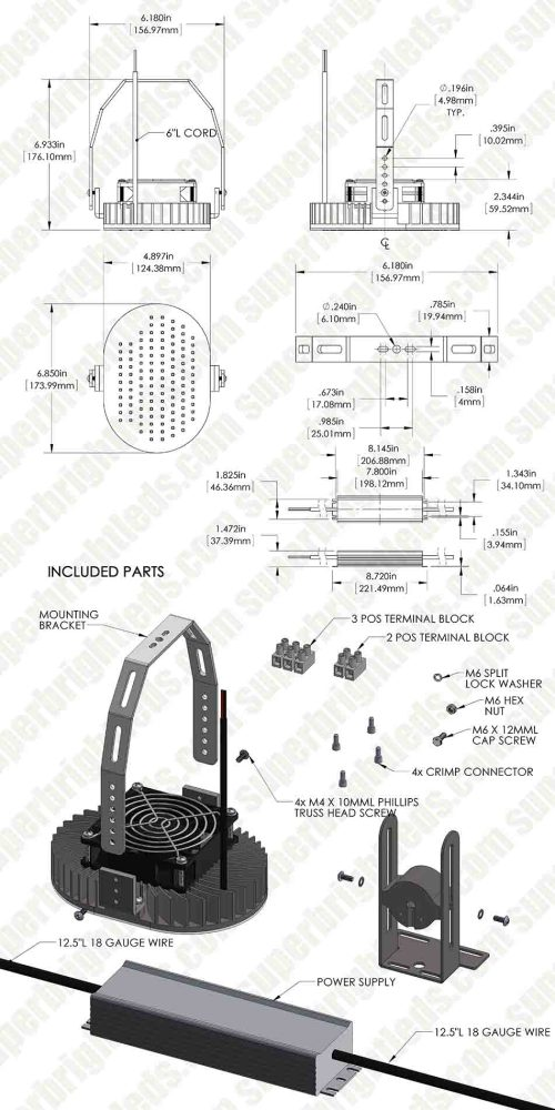 small resolution of led retrofit kit for 500w mh fixtures 11 200 lumens
