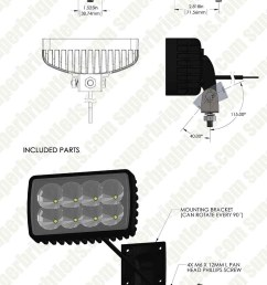 led auxiliary light 6 rectangular 24w heavy duty off road driving light [ 950 x 1900 Pixel ]