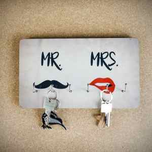 PORTE-CLÉS MR. & MRS