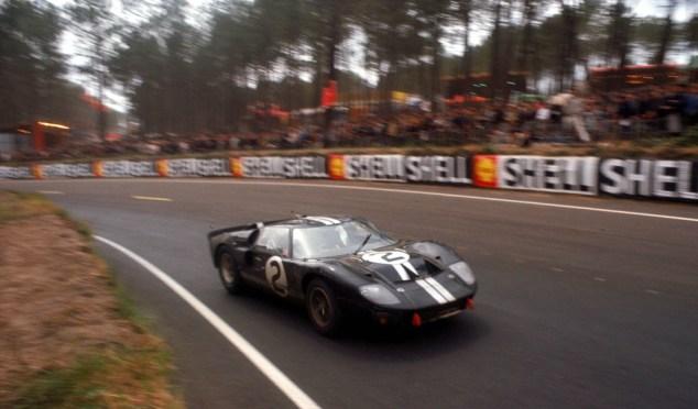 24 Hours of LeMans, LeMans, France, 1966. Chris Amon/Bruce McLaren Shelby American race winning Ford Mark II. CD#0554-3252-2890-16.