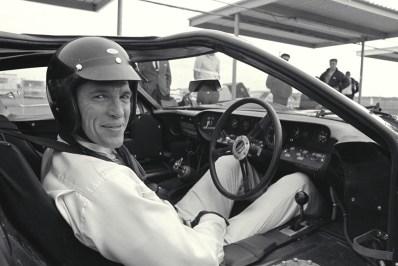 Daytona 24 Hour Race, Daytona, FL, 1966. Dan Gurney in the cockpit of a Ford MarkII. CD#0777-3292-0443-8