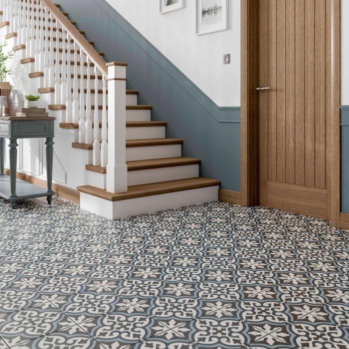miro patterned glazed ceramic wall floor tile 250x250mm