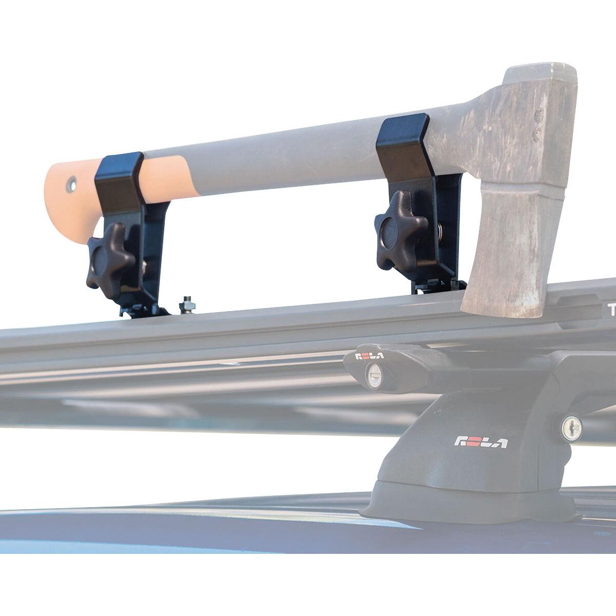 rola roof rack axe shovel holder multifit