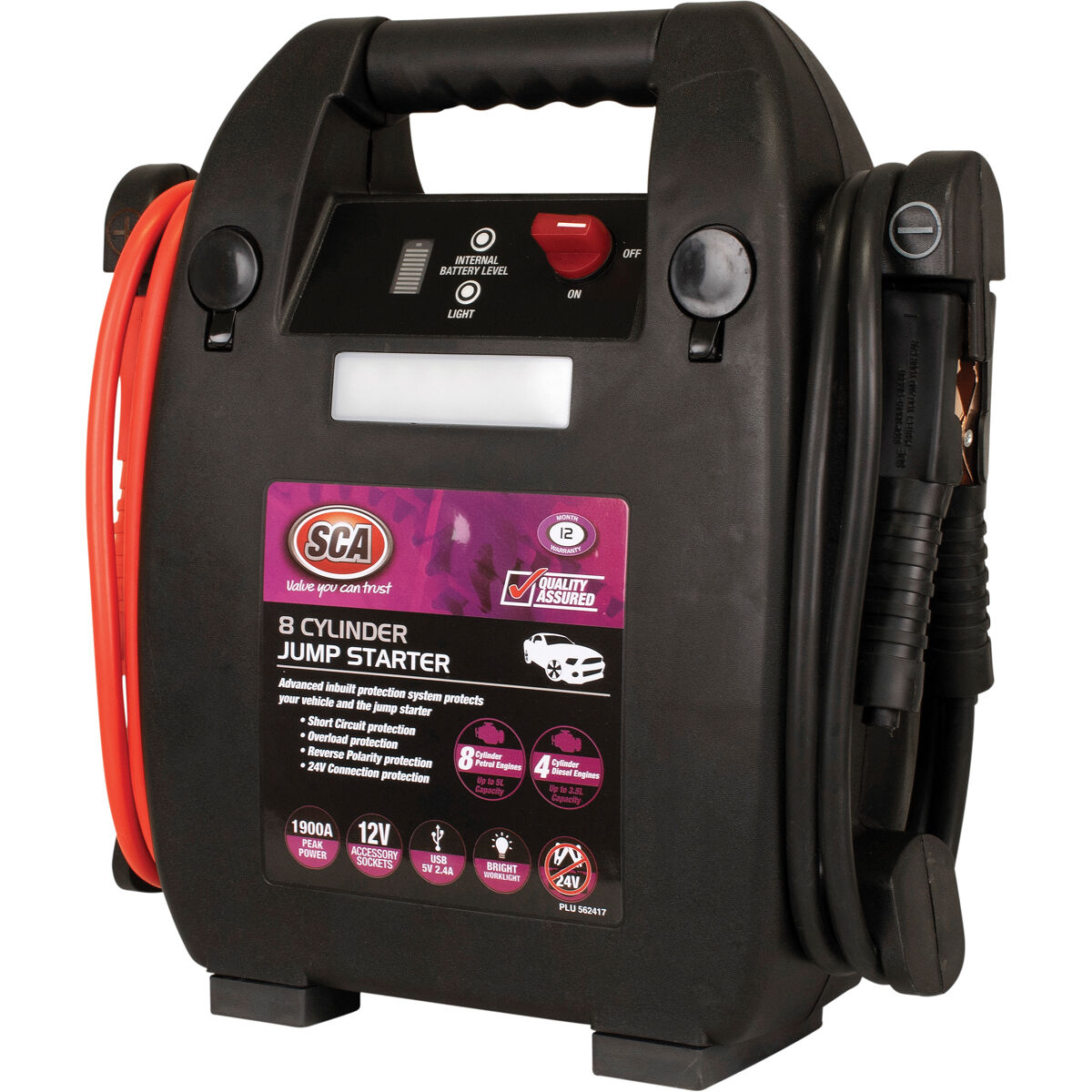 hight resolution of sca 12v jump starter 8 cylinder 1900 amp scaau hi res