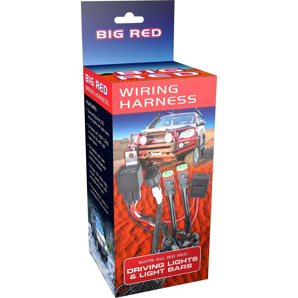 medium resolution of big red driving light wiring harness scaau hi res
