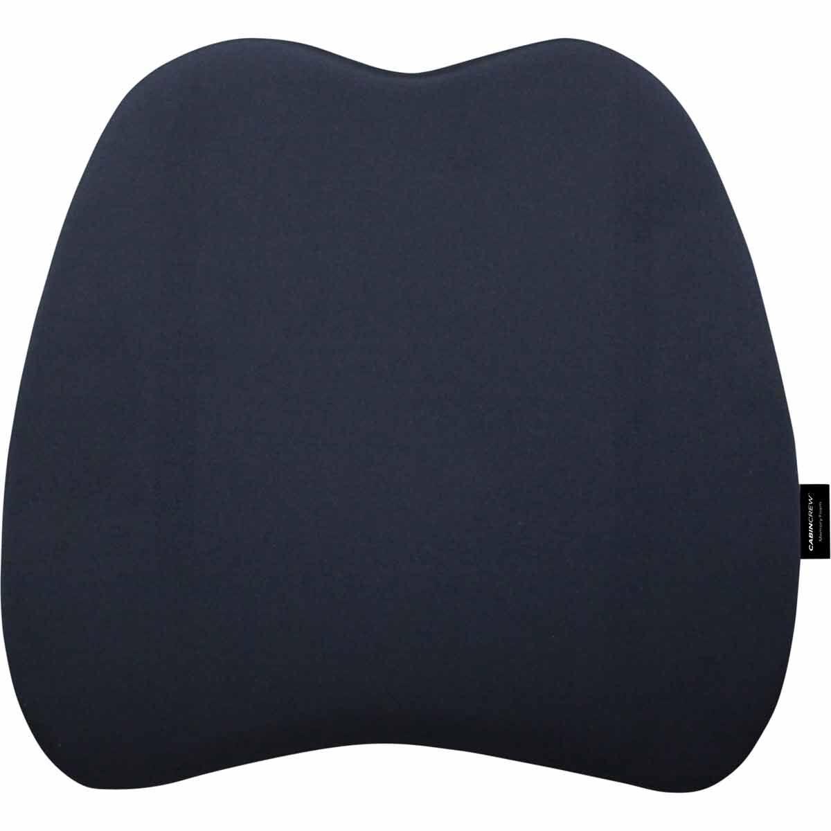 memory foam lumbar cushion black