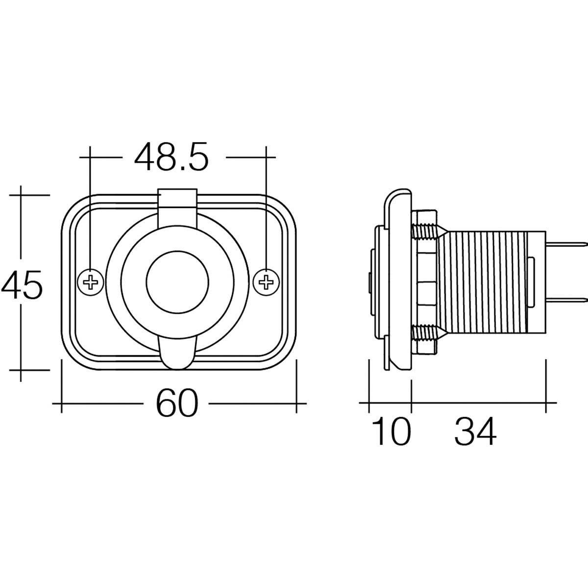 hight resolution of 5v dual usb socket 2 5 amp flush mount scaau hi res