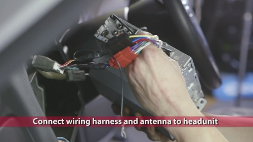 small resolution of connect wiring harness you prepared earlier and plug in the antenna