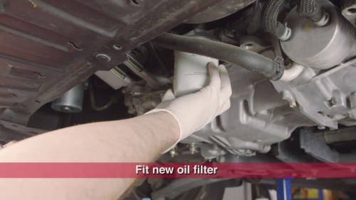 small resolution of step 6 install new oil filter