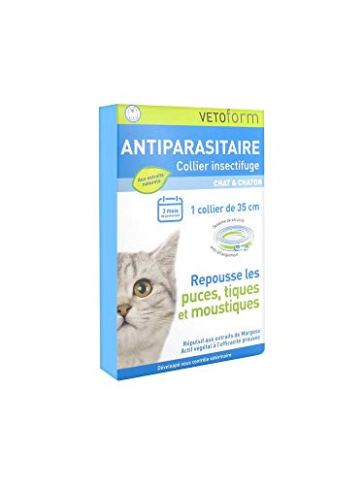 Vetoform Antiparasitaire Collier Insectifuge Chat et Chaton 17
