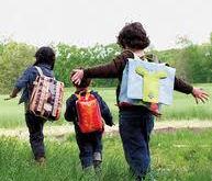 preschool with backpack