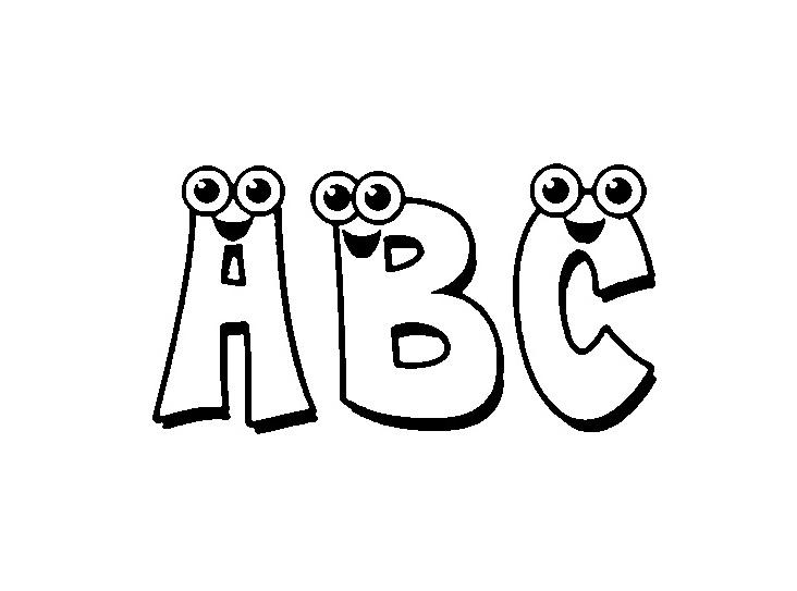 ABC Malvorlagen - Alphabet Kinder für Ausmalbilder - Super