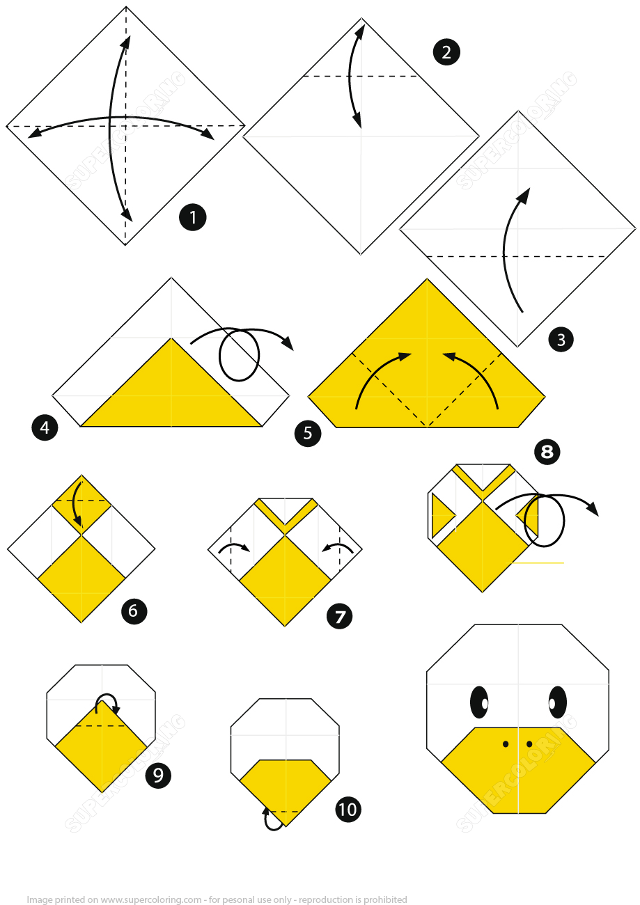 How To Make An Origami Duck Face Step By Step Instructions