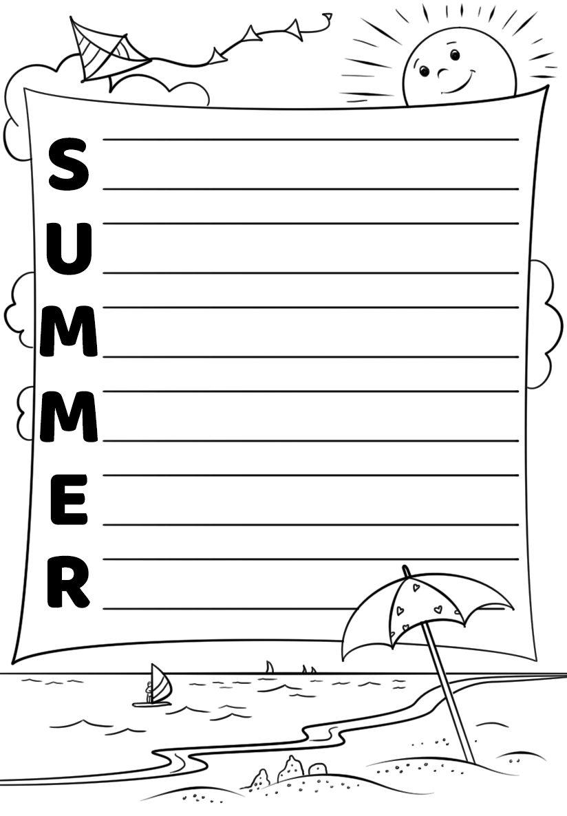 (2) a plastic or paper diagram that you can put on your keyboard to indicate the meani. Summer Acrostic Poem Template Free Printable Papercraft Templates