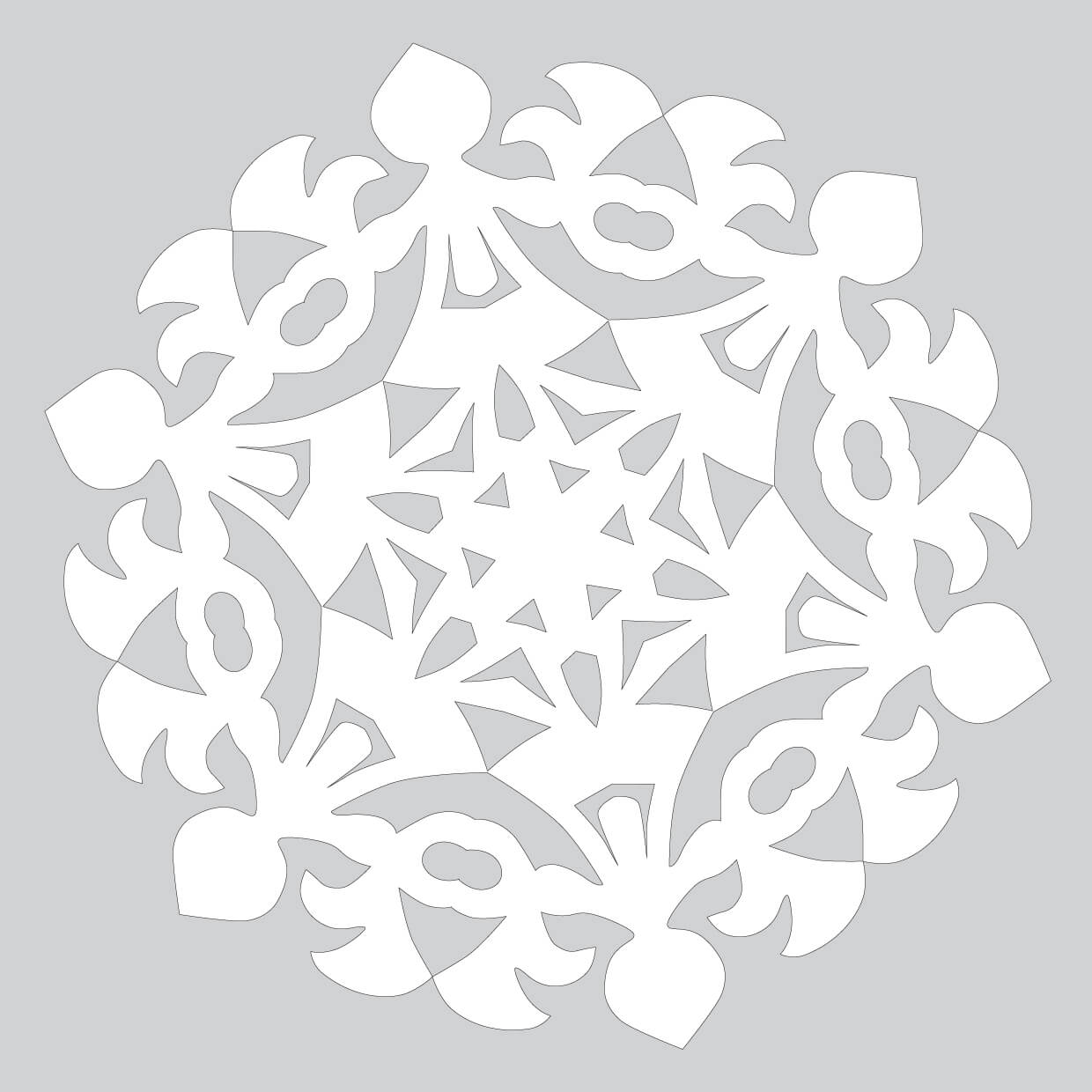 How To Make Paper Snowflake With Round Dance Pattern To
