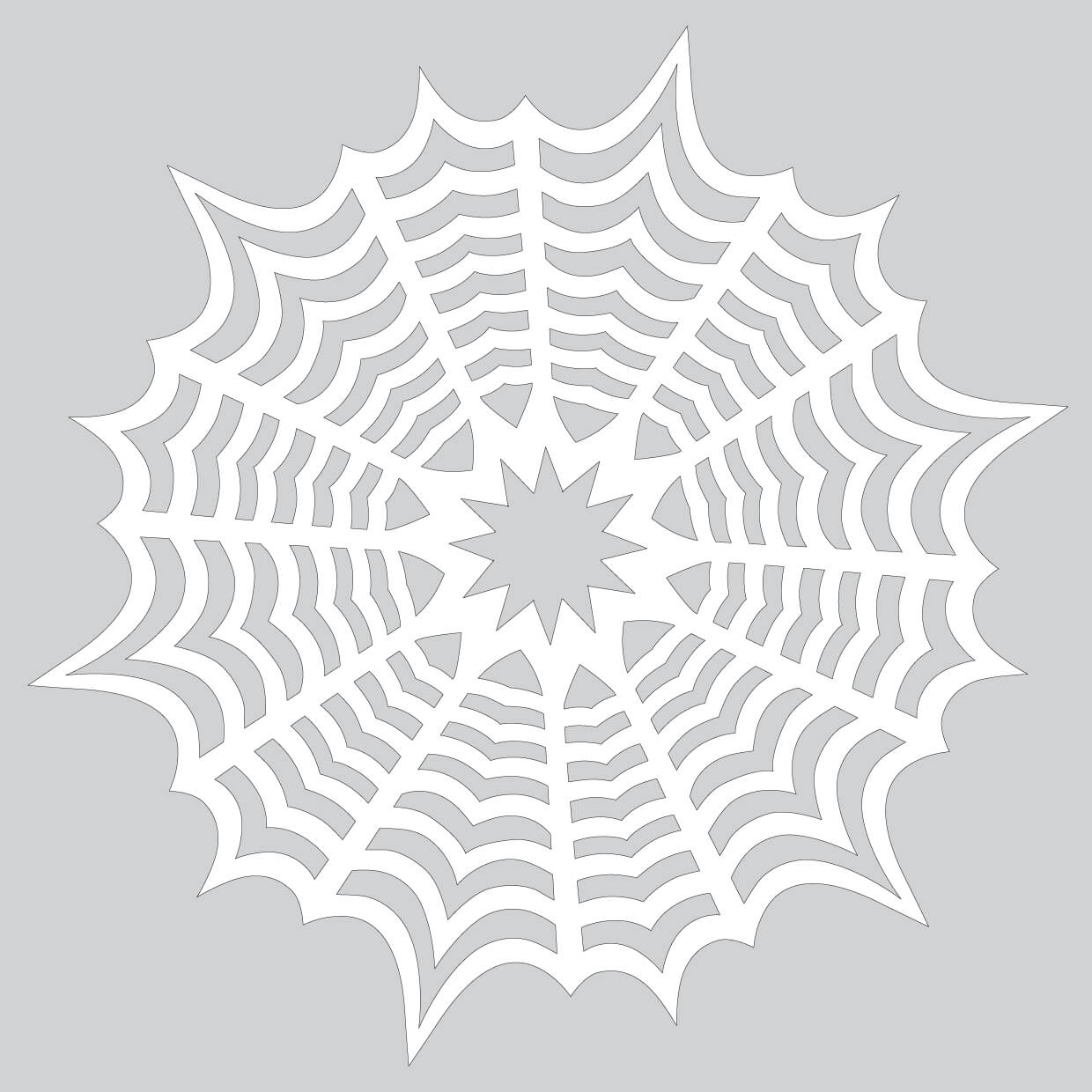 How To Make Paper Snowflake With Spiderweb Pattern To Cut