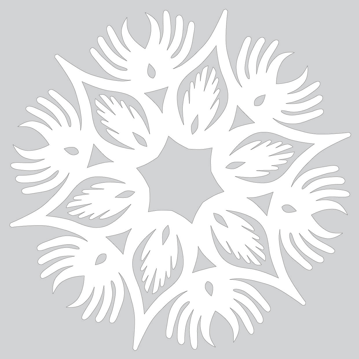 How To Make Paper Snowflake With Wings Pattern To Cut Out