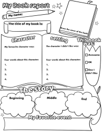 My Book Report Printable Worksheet | Free Printable ...