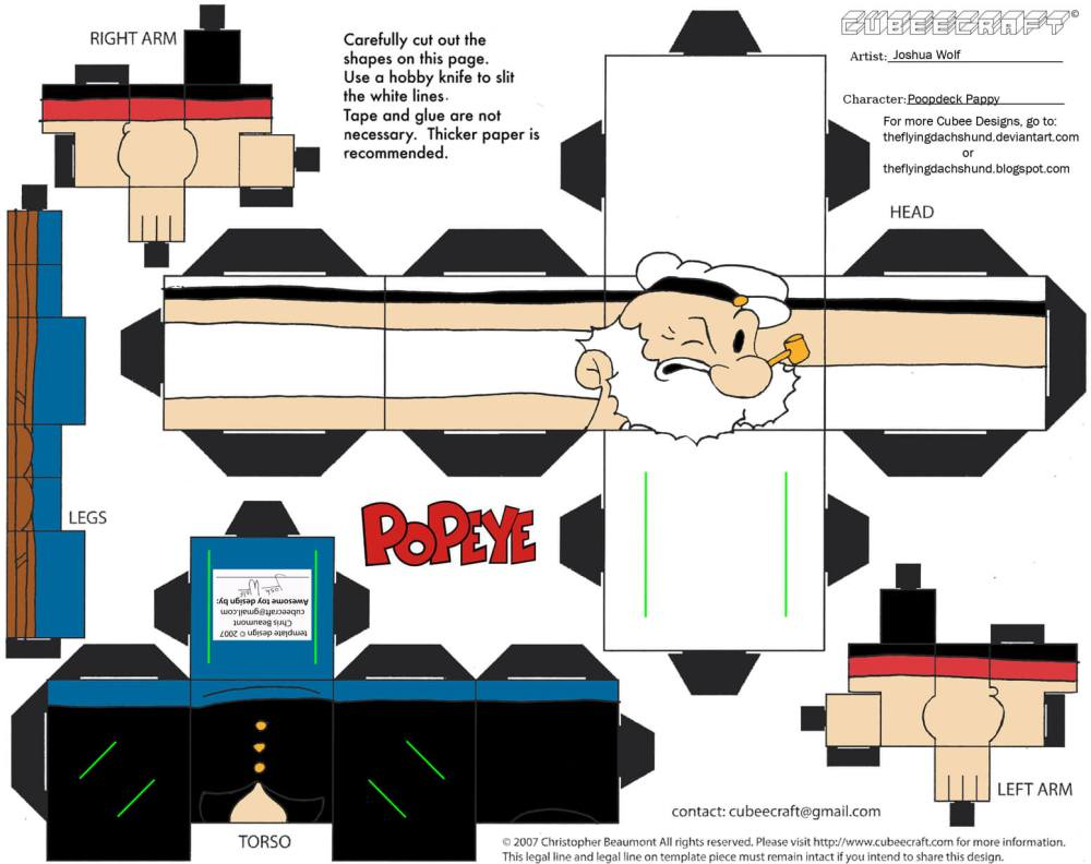 medium resolution of poopdeck pappy paper toy