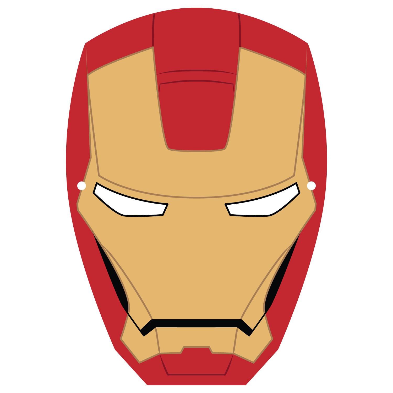 Iron Man Maske Malvorlage - tippsvorlage
