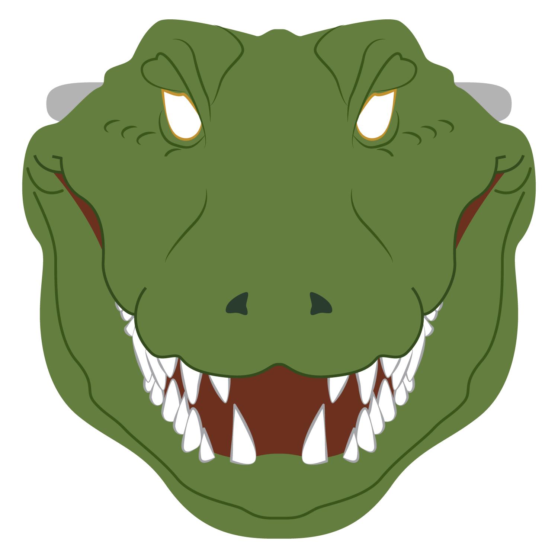 Crocodile Mask Template