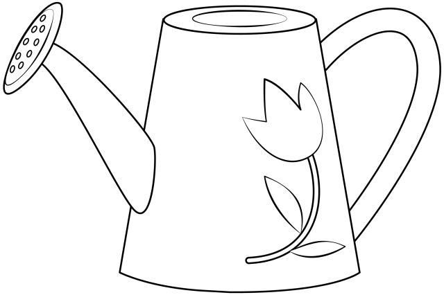 Watering Can Printable Template  Free Printable Papercraft Templates