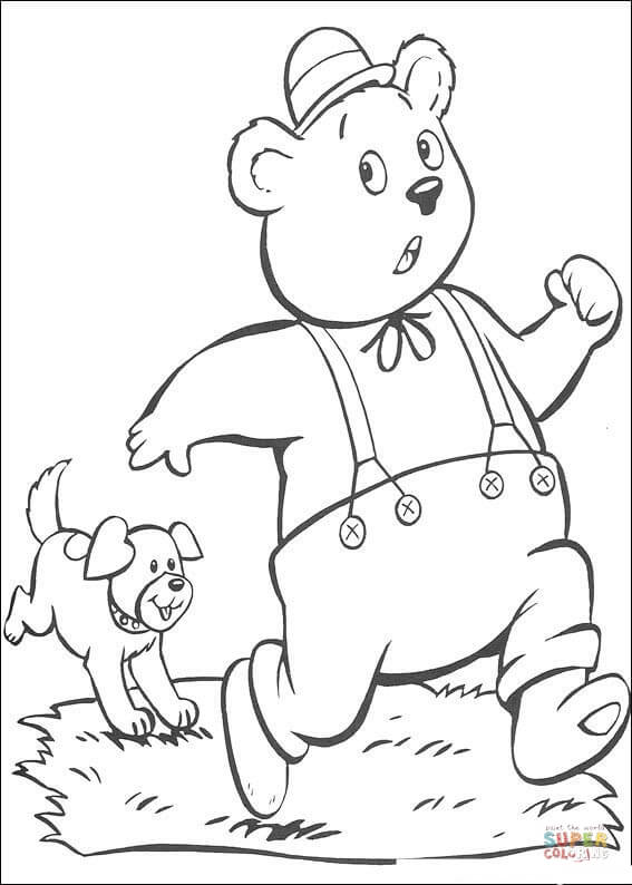 Miss Rabbit Coloring Page