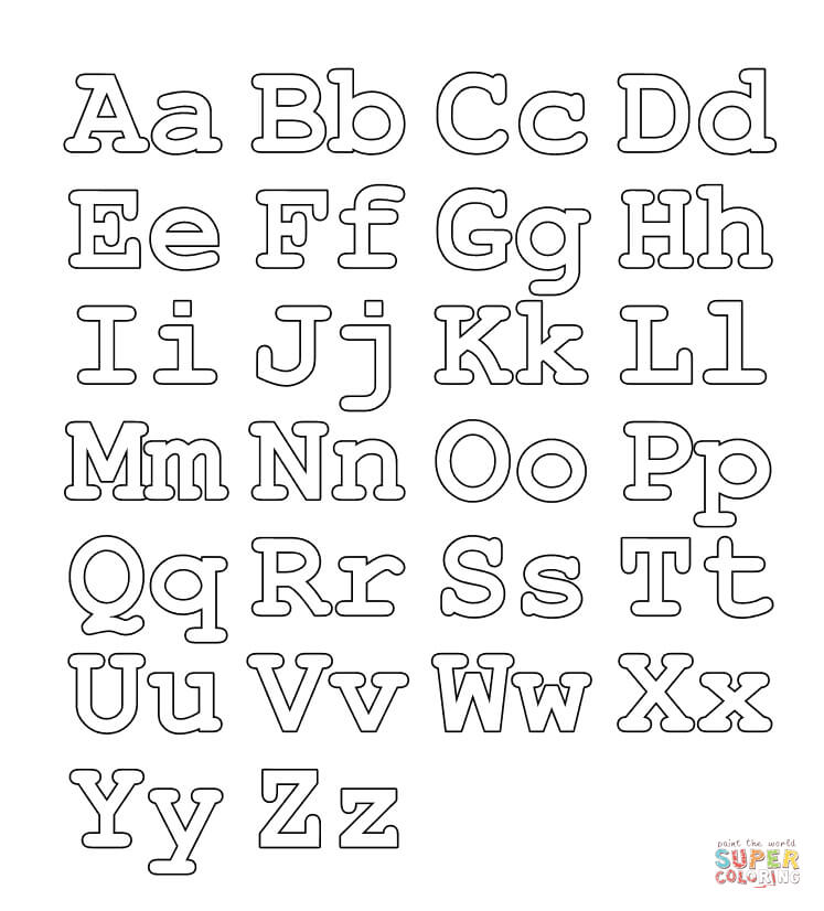 Full alphabet worksheet (Capital and small letters