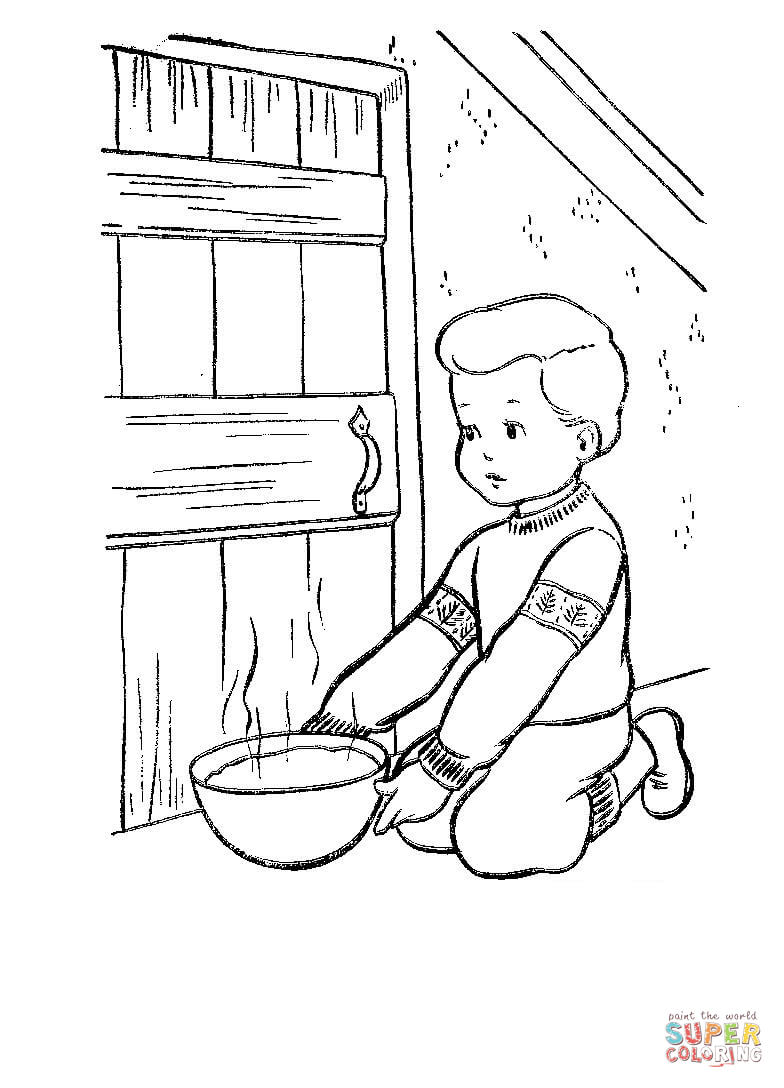 Christmas Eve In Denmark Coloring Page Free Printable