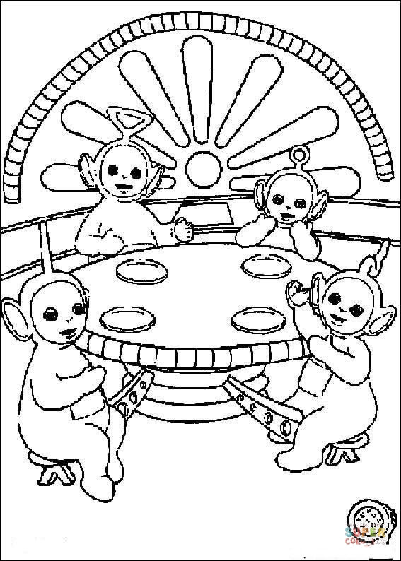 Free Coloring Pages Of Tinky Winky
